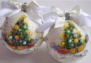Новогодние шарики своими руками на елку + в школу и детский сад на конкурс